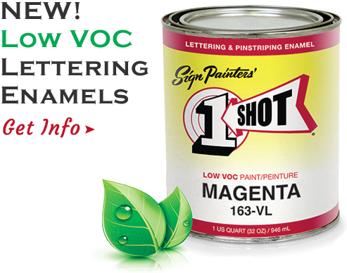 A can of paint with One Shot Logo