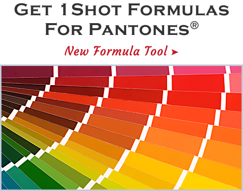 Get 1 Shot Formulas for Pantones: New Formula Tool